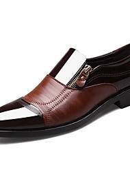 cheap -Men's Formal Shoes PU Winter Loafers & Slip-Ons Mid-Calf Boots Black / Dark Brown