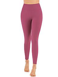 abordables -Femme Pantalon de yoga Mosaïque Couleur unie Rouge Bordeaux Maille Zumba Course / Running Danse Leggings Sport Tenues de Sport Respirable Séchage rapide Compression Push Up Haute élasticité Mince