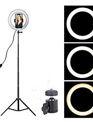 cheap -16cm LED Ring Light Photo Studio Camera Light Photography Dimmable Video light for Youtube Makeup Selfie with Tripod Phone Holder