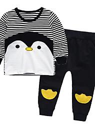 cheap -Baby Boys' Basic Striped Long Sleeve Regular Regular Clothing Set Black