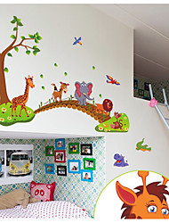 cheap -New cartoon animal across the bridge children's room bedroom removable decorative wall sticker AY9245