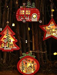 cheap -Christmas Tree Decoration Wood 1 Piece Christmas
