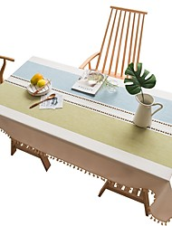 cheap -Casual polyester fibre Square Table Cloth Striped Table Decorations