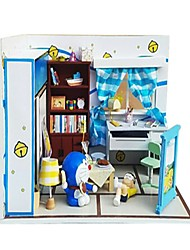 cheap -Dollhouse Pretend Play Model Building Kit Novelty House Wooden 1 pcs Toy Gift