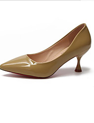 cheap -Women's Heels Kitten Heel Pointed Toe PU Classic / Minimalism Spring &  Fall Black / Light Red / Yellow