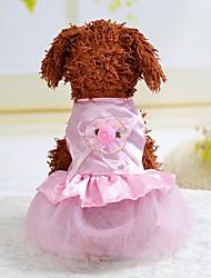 cheap -Dog Costume Dress Dog Clothes Cartoon Gray Pink Light Blue Silk Costume For Summer Women's Cosplay