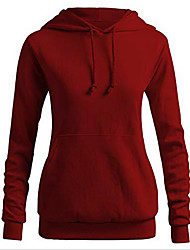 cheap -Women's Basic Hoodie - Solid Colored Black S