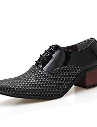 Недорогие -Муж. Официальная обувь Весна / Осень Деловые Для вечеринки / ужина Офис и карьера Туфли на шнуровке Для прогулок Полиуретан Высота возрастающей Белый / Черный