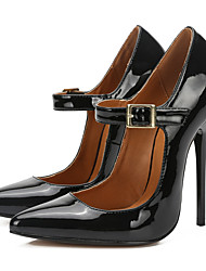 cheap -Women's Heels Stiletto Heel Pointed Toe Buckle PU Classic Spring &  Fall Black / Red / Party & Evening