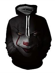cheap -Men's Plus Size Hoodie Geometric / 3D Print Hooded Active Long Sleeve Black S M L XL XXL XXXL XXXXL XXXXXL XXXXXXL / Fall / Winter
