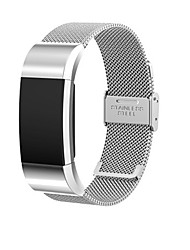 cheap -Watch Band for Fitbit Charge 2 Fitbit Milanese Loop Stainless Steel Wrist Strap Card Button