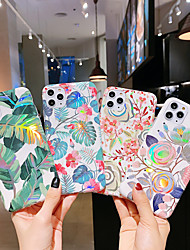 cheap -Case for Apple scene map iPhone 11 11 Pro X XR XS Max plating laser Flowers pattern TPU Texture IMD Craft All-inclusive phone case KLD