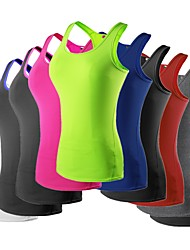 cheap -YUERLIAN Women's Running Base Layer Compression Tank Top Athletic Breathable Quick Dry Running Exercise & Fitness Sportswear Vest / Gilet Tank Top Base Layer Top Red+Black Neon Green White Black Red