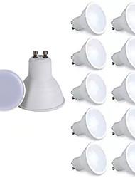 abordables -10pcs dimmable gu10 lampada ampoule led 6w 220v bombillas led lampe spotlight lampara spot lumière décoration chaud blanc froid blanc