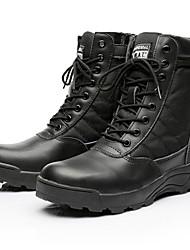 cheap -Men's Desert Boots PU Winter Boots Booties / Ankle Boots Black / Khaki