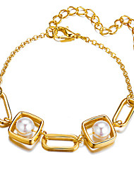 cheap -Women's Vintage Bracelet Earrings / Bracelet Classic Lucky Simple Classic Trendy Fashion Cute Imitation Pearl Bracelet Jewelry Gold For Daily School Street Holiday Festival
