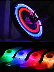 cheap -LED Bike Light Lamp Bike Glow Lights Bicycle Cycling Waterproof LED C-Cell 1 lm Color-changing Red Blue Cycling / Bike