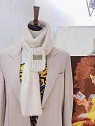 Недорогие -Жен. Для офиса / Классический / Симпатичные Стиль Прямоугольный платок Однотонный