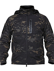 cheap -Men's Hunting Jacket Outdoor Thermal / Warm Windproof Wearproof Comfortable Spring Fall Winter Camo Terylene Camouflage