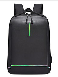 رخيصةأون -سعة كبيرة أكسفورد سحاب حقيبة ظهر مناسب للبس اليومي أسود