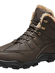 cheap -Men's Comfort Shoes PU Fall & Winter Boots Booties / Ankle Boots Black / Brown