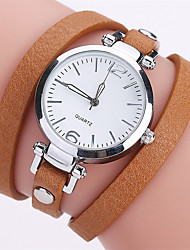 cheap -Women's Bracelet Watch Casual Minimalist Black White Brown PU Leather Chinese Quartz Black White Brown Casual Watch 1 pc Analog One Year Battery Life