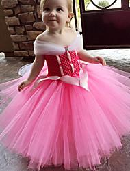 cheap -Princess Sofia Dress Cosplay Costume Masquerade Girls' Movie Cosplay A-Line Slip Cosplay Halloween Yellow / Pink / Blue Dress Halloween Children's Day Masquerade Silk Organza