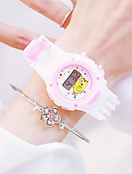 cheap -Women's Digital Watch Sparkle Casual White Silicone Chinese Digital Purple Blushing Pink Orange Creative Luminous New Design 30 m 2pcs Analog Two Years Battery Life