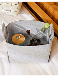 cheap -Storage Basket Foldable Durable High Quality Wool Felt Livingroom Big Assemble Customizable
