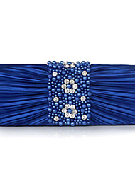 cheap -Women's Beading / Embroidery Silk Evening Bag Solid Color Black / Champagne / Royal Blue