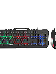 cheap -LITBest T21 USB Wired Gaming Keyboard Office Keyboard Gaming Luminous Multicolor Backlit 104 pcs Keys