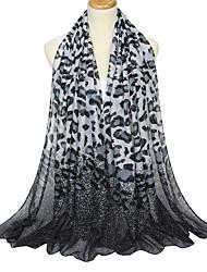Недорогие -Жен. Для вечеринки / Классический Прямоугольный платок Леопард / Контрастных цветов
