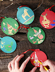 cheap -Christmas Tree Decoration Wood 2pcs Christmas