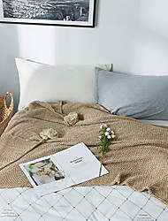 cheap -Bed Blankets, Solid Color Cotton Comfy Blankets
