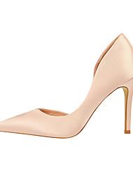 cheap -Women's Wedding Shoes Stiletto Heel Pointed Toe Satin Minimalism Spring & Summer Black / Wine / Green / Party & Evening
