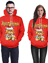 cheap -Santa Suit Ugly Christmas Sweater / Sweatshirt Couple's Adults' Christmas Christmas Christmas Polyester Top / Lycra Spandex