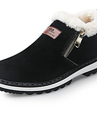 cheap -Men's Suede Shoes Suede Winter Classic / British Boots Warm Booties / Ankle Boots Black / Brown / Outdoor / Snow Boots