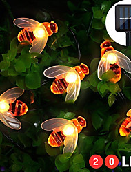 cheap -ZDM 8 Functions Solar Bee Lights Lovely Fairy Bee Lights 2M 20 LED Outdoor Lights Waterproof Garden Terrace Flowers And Trees Party Celebration