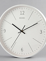 cheap -Modern Contemporary Plastic & Metal Round AA Batteries Powered Decoration Wall Clock Mirror Polished No