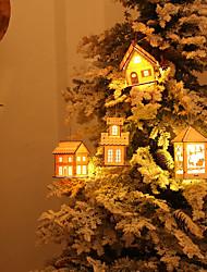 cheap -Holiday Decorations Christmas Decorations Christmas Lights / Christmas / Christmas Ornaments LED Light / Decorative / Novelty White / Sky Blue / Silver 1pc