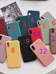 cheap -TPU Case For Apple iPhone 12 iPhone 11 Pro Max Xr Xs 8 Plus 7 6s Protective Case Mobile Phone Case Back Cover Solid Colored TPU