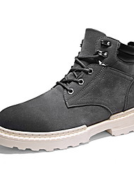 cheap -Men's Suede Shoes Suede Fall & Winter Boots Booties / Ankle Boots Black / Gray / Khaki
