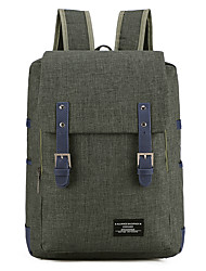 cheap -Large Capacity Canvas Tiered Commuter Backpack Solid Color Sports Blue / Dark Green / Gray