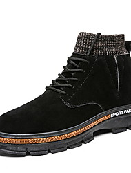 cheap -Men's Suede Shoes Suede Fall & Winter Boots Booties / Ankle Boots Black / Camel / Gray
