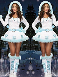 cheap -Snowman Dress Women's Adults' Costume Party Christmas Christmas Velvet Dress / Gloves / Belt / Gloves / Gloves / Belt