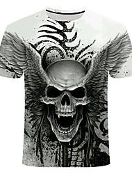 cheap -Men's Daily T-shirt - Skull White