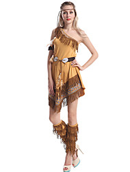 cheap -Indian Girl Adults Women's Cosplay Ethnic & Interracial Dress For Party Halloween Polyester Halloween Carnival Masquerade Dress