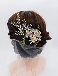 cheap -Cubic Zirconia / Alloy Hair Clip with Rhinestone / Imitation Pearl / Crystals 1pc Wedding / Party / Evening Headpiece