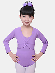 cheap -Ballet Tops Girls' Training / Performance Spandex Ruching Long Sleeve Natural Top
