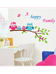 cheap -New branch owl children's room living room study kindergarten background decoration removable stickers AY6013